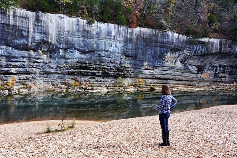 Admirer les cuirs épais de rivière de Buffalo photo libre de droits