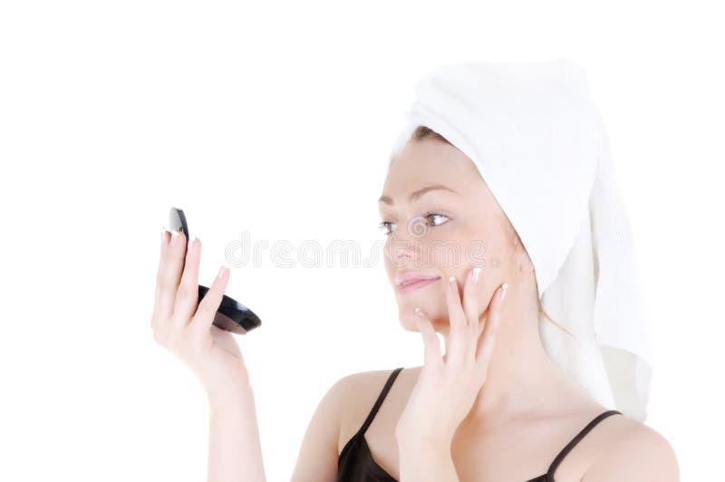 Admirez votre peau lisse gentille photo stock