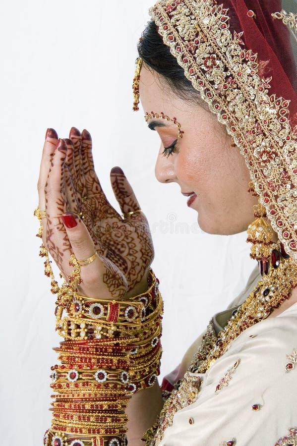 Admiring Mehndi stock images