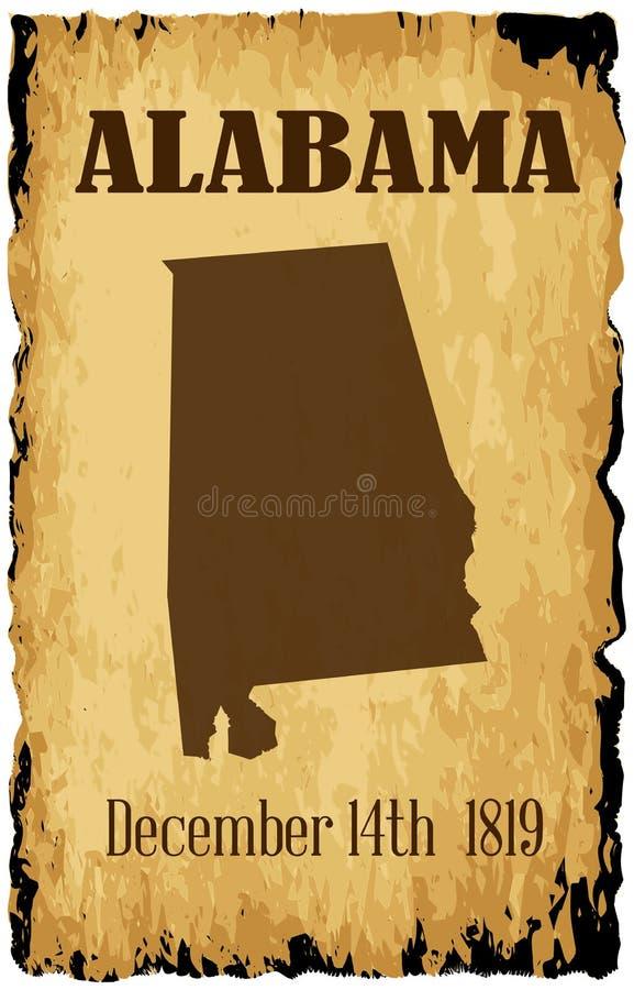 Admisión de Alabama a la fecha de la unión libre illustration