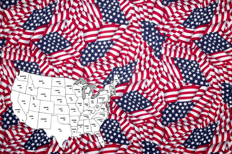 Admissão à união, estados, América, EUA imagem de stock royalty free