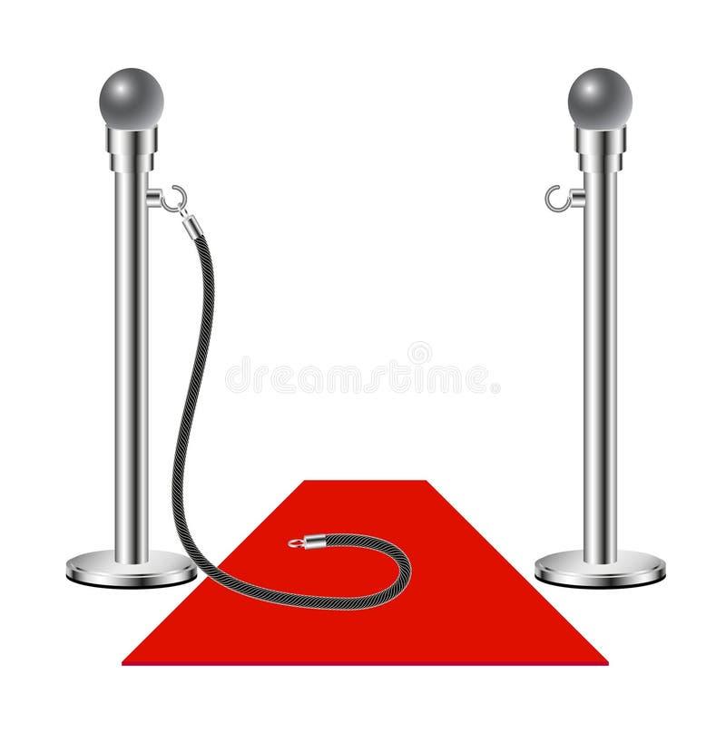 Admission libre - tapis rouge illustration stock