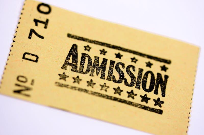 Admission ticket stock image