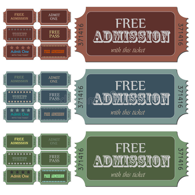 Download Admission Tickets stock vector. Illustration of theater - 14996489