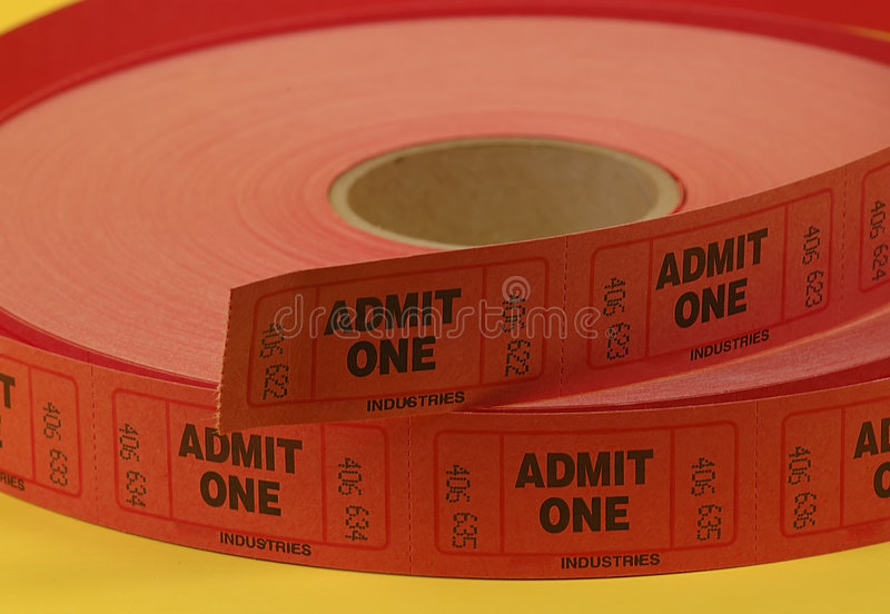 Admission Tickets royalty free stock photo