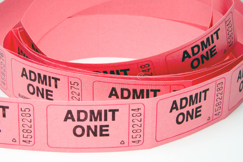 Admission Tickets stock images