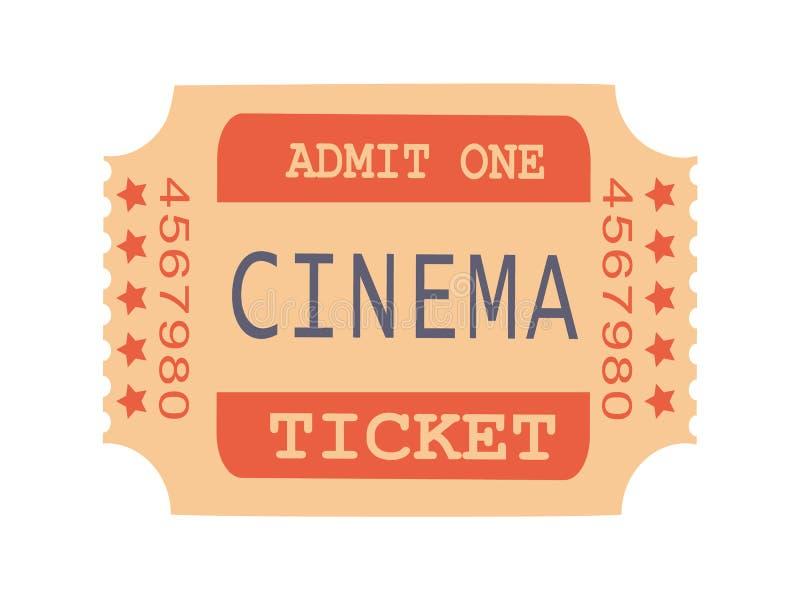 Admit One Cinema Ticket Sample Vector Illustration royalty free illustration