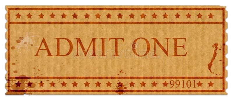 Admit one ticket royalty free illustration
