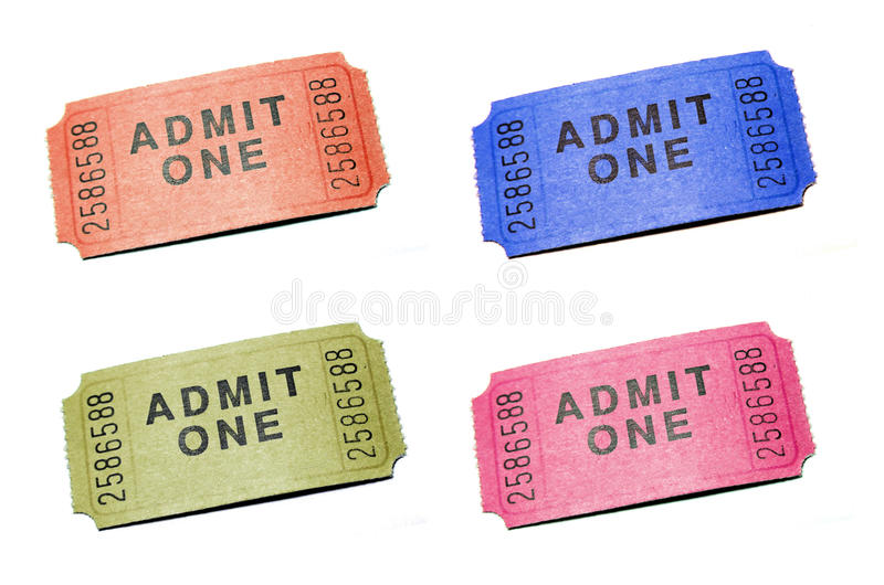 Download Admit One Ticket stock photo. Image of background, fest - 16996510