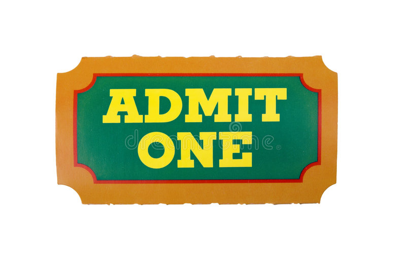 Admit one ticket royalty free stock image