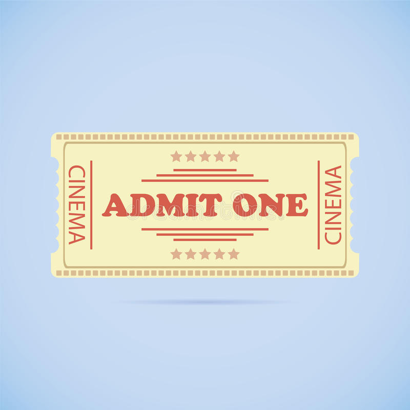 Download Admit One ticket stock vector. Illustration of industry - 39506669