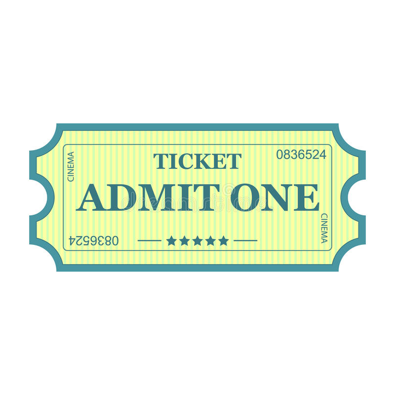 Download Admit One ticket stock vector. Illustration of activity - 39506673