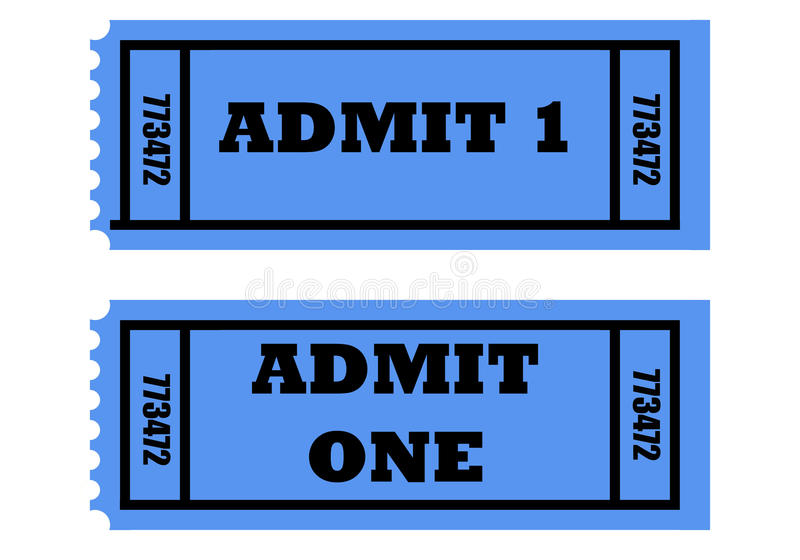 Download Admit one tickets stock illustration. Illustration of film - 10528268