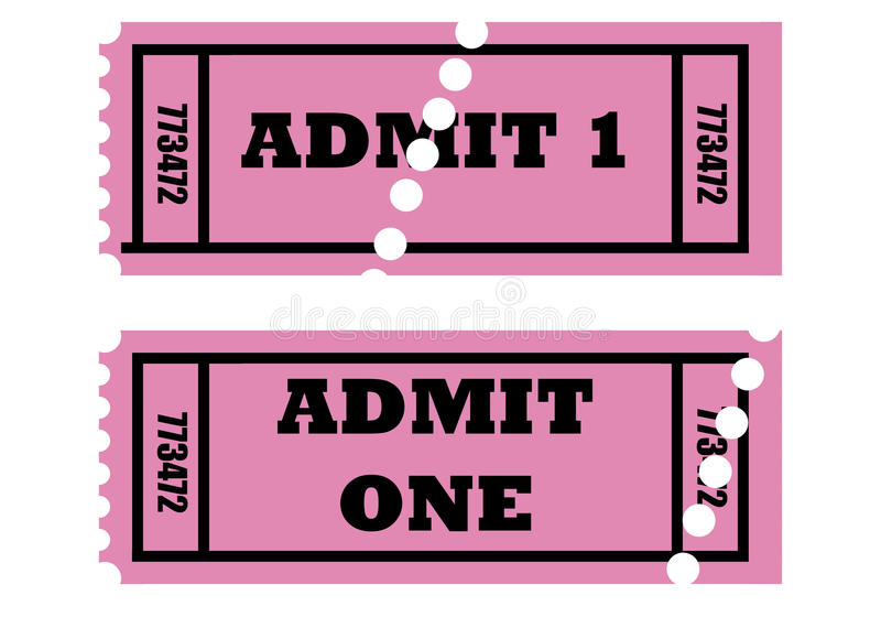 Download Admit one tickets stock illustration. Image of detail - 11231251