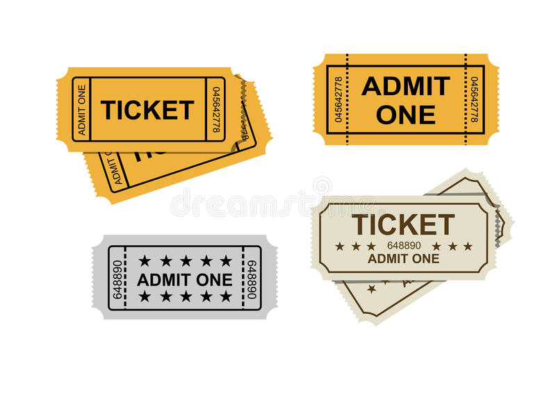 Download Admit one tickets stock vector. Illustration of coupon - 39811810