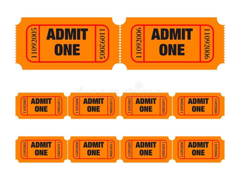 Admita que um tickets ilustração royalty free