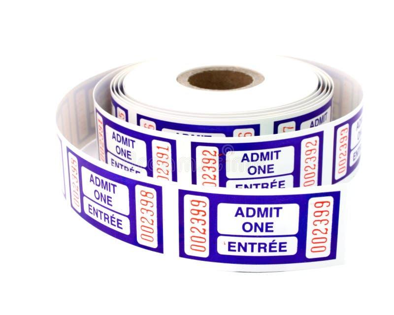 Admita que um tickets fotografia de stock