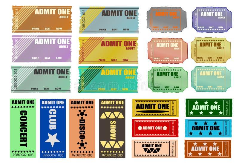 Admita que um Tickets ilustração do vetor