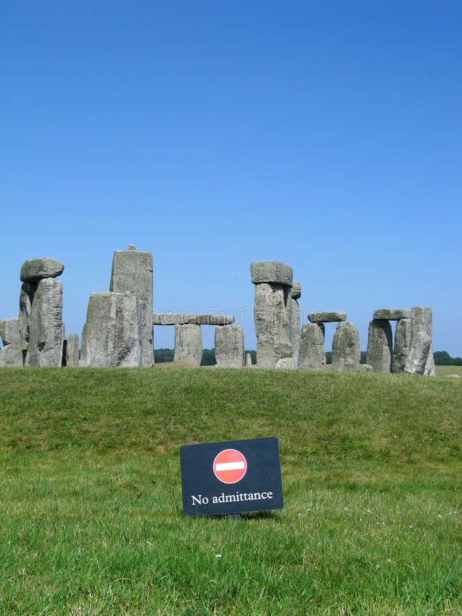 admitance отсутствие stonehenge стоковое фото