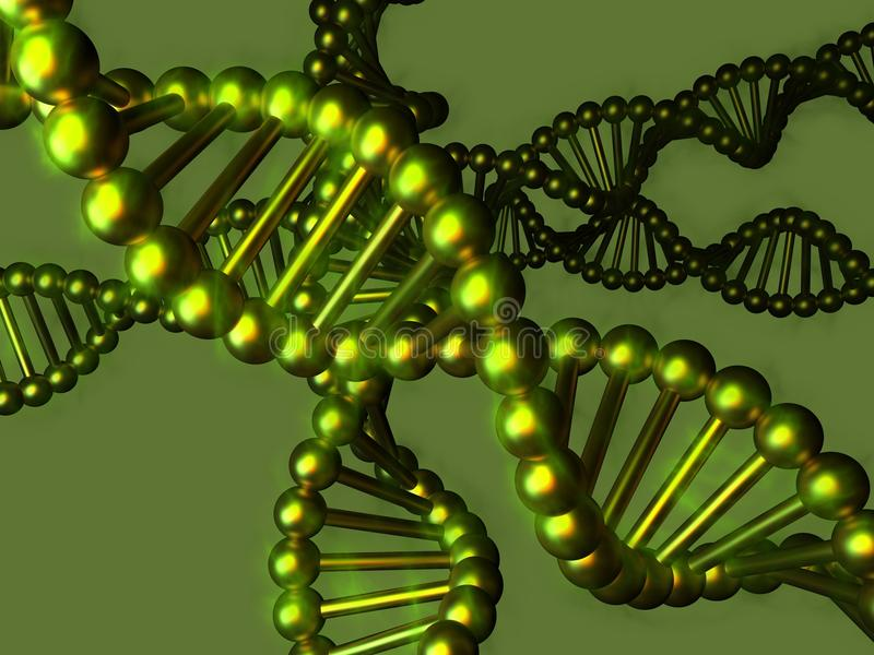 ADN - ácido deoxyribonucleic ilustração do vetor