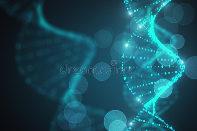 ADN abstraite de fond illustration libre de droits