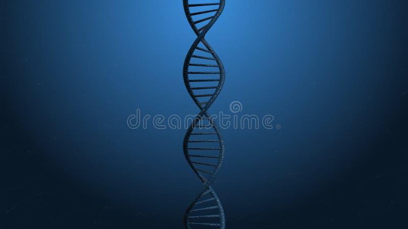 ADN abstrato do conceito da ciência da tecnologia no fundo preto fotos de stock royalty free