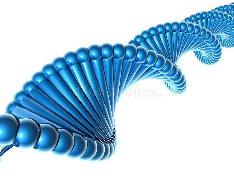 ADN azul ilustração stock
