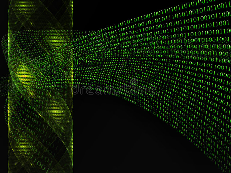 ADN de code binaire illustration libre de droits