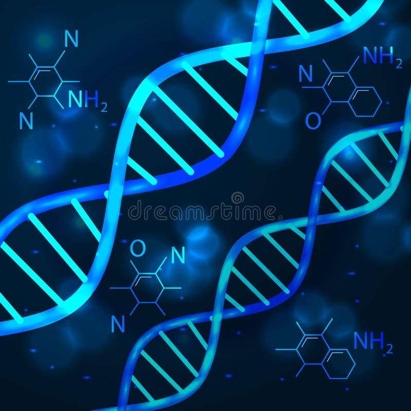 ADN de concept de la science de technologie d'abrégé sur vecteur futuriste illustration libre de droits