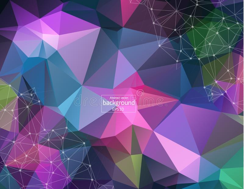 ADN de structure de molécule et fond de communication Lignes reliées avec des points Concept de la science, connexion, chimie, bi illustration libre de droits