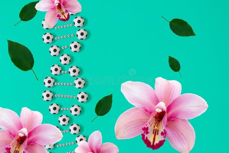 ADN do futebol no fundo azul ilustração stock