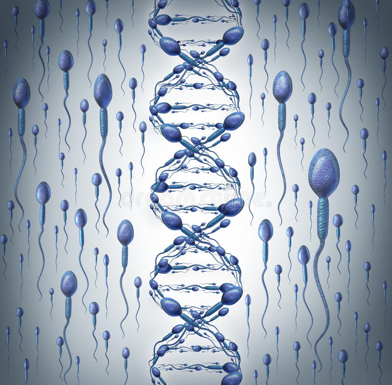 ADN do homem ilustração stock
