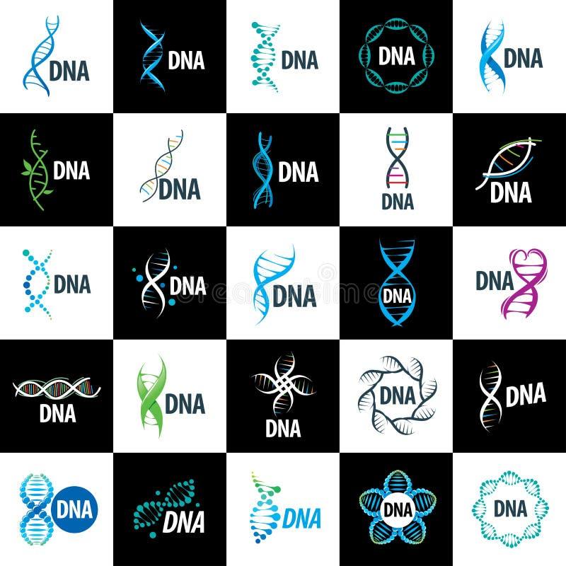 ADN do logotipo do vetor ilustração do vetor