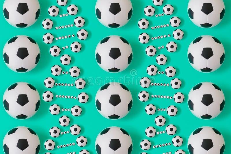 ADN du football sur le fond bleu illustration stock