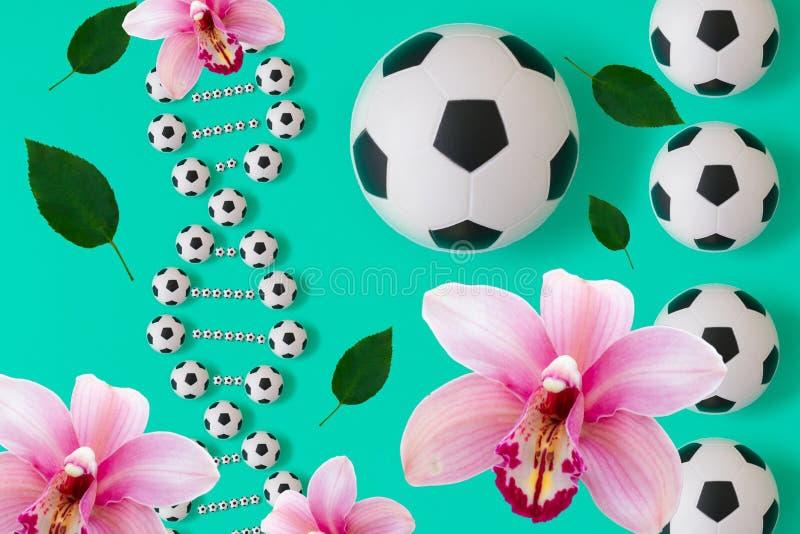 ADN du football sur le fond bleu illustration libre de droits