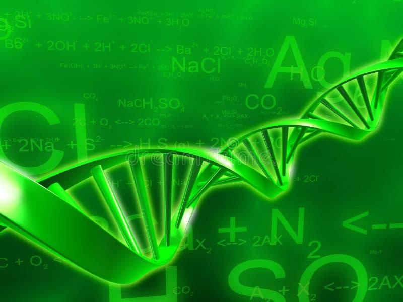 ADN e fórmulas da ciência ilustração royalty free