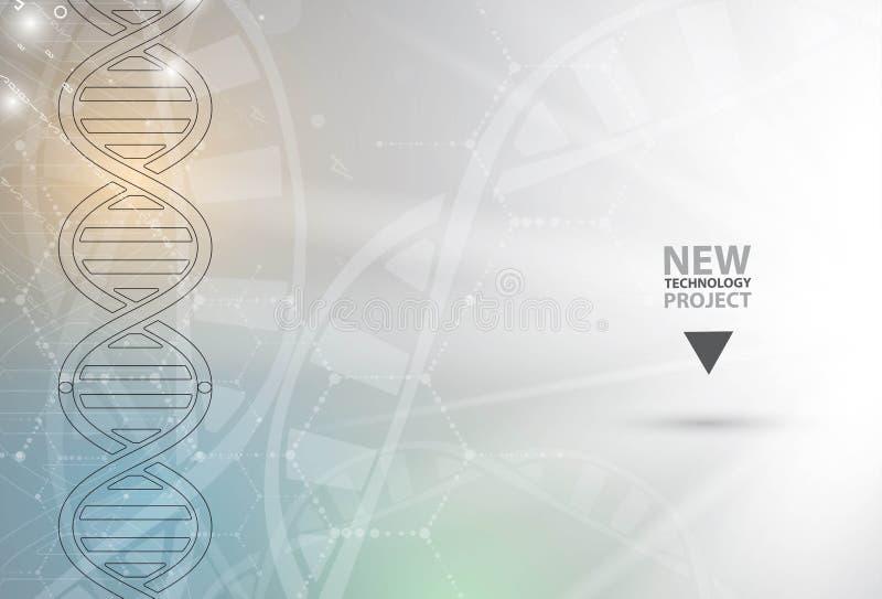Download ADN Et Fond Médical Et De Technologie Molécule Futuriste S Illustration de Vecteur - Illustration du laboratoire, abstrait: 76082939