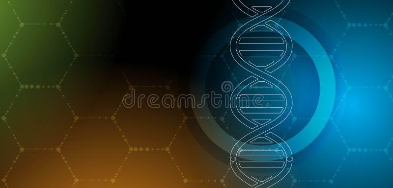 Download ADN Et Fond Médical Et De Technologie Molécule Futuriste S Illustration de Vecteur - Illustration du biotechnologie, chimie: 76082956