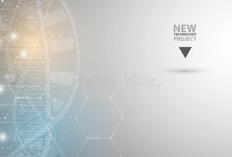 Download ADN Et Fond Médical Et De Technologie Molécule Futuriste S Illustration de Vecteur - Illustration du information, durée: 76082957