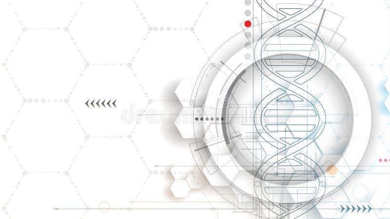 Download ADN Et Fond Médical Et De Technologie Molécule Futuriste S Illustration de Vecteur - Illustration du laboratoire, réseau: 76083060