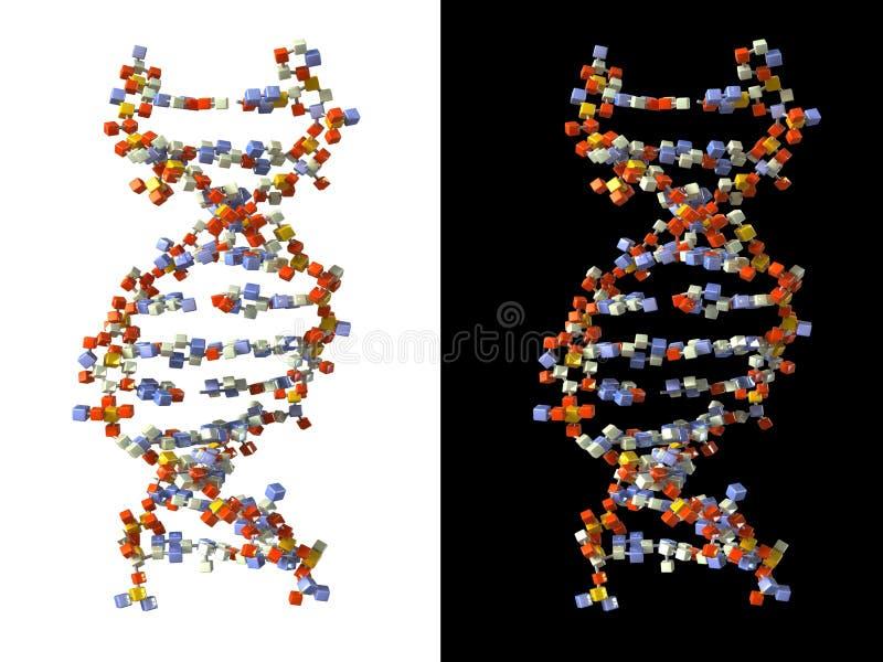 ADN feito dos cubos ilustração royalty free