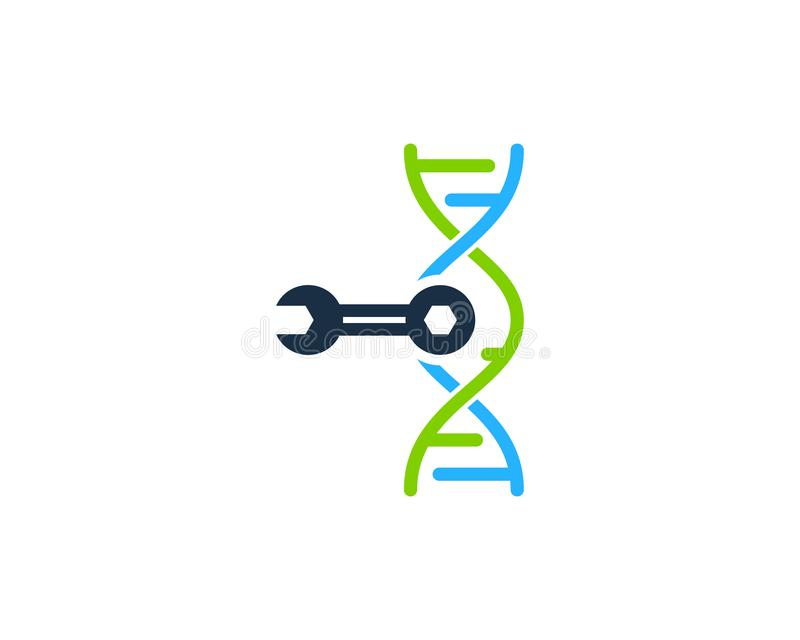 ADN Logo Icon Design de difficulté illustration libre de droits