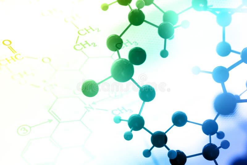 ADN, molécule, chimie dans l'essai en laboratoire de laboratoire photo stock