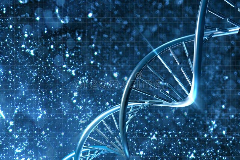 ADN no fundo bonito ilustração stock