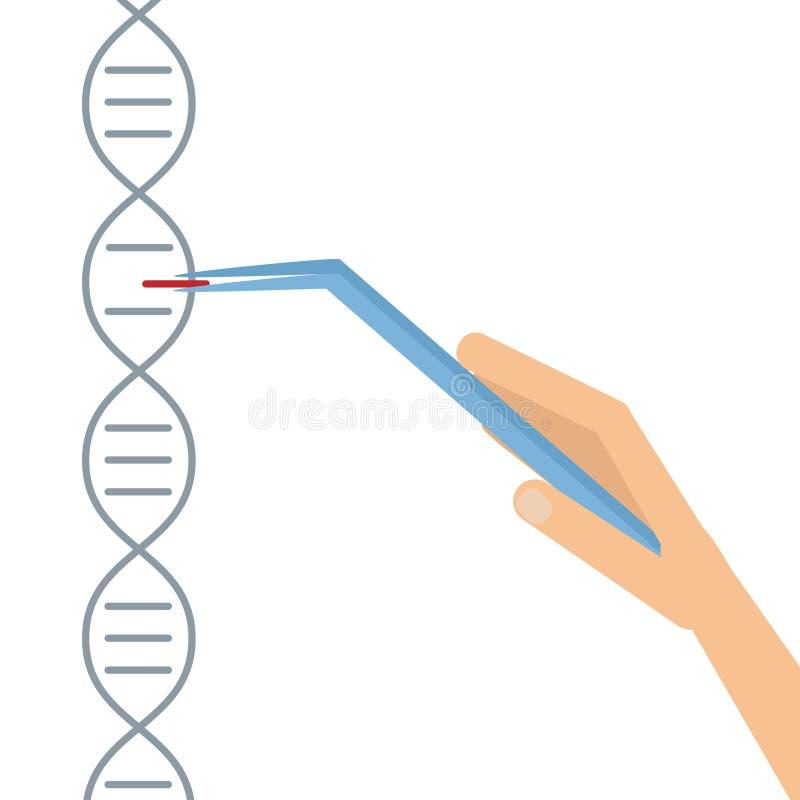 ADN que arranja em sequência a economia da informação do genoma ilustração royalty free
