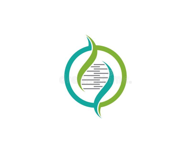 ADN, signe génétique, éléments et illustration d'icône illustration libre de droits