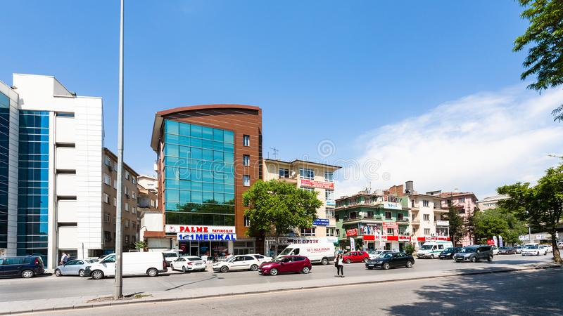 Adnan Saygun cd ulica w Ankara mieście zdjęcie royalty free