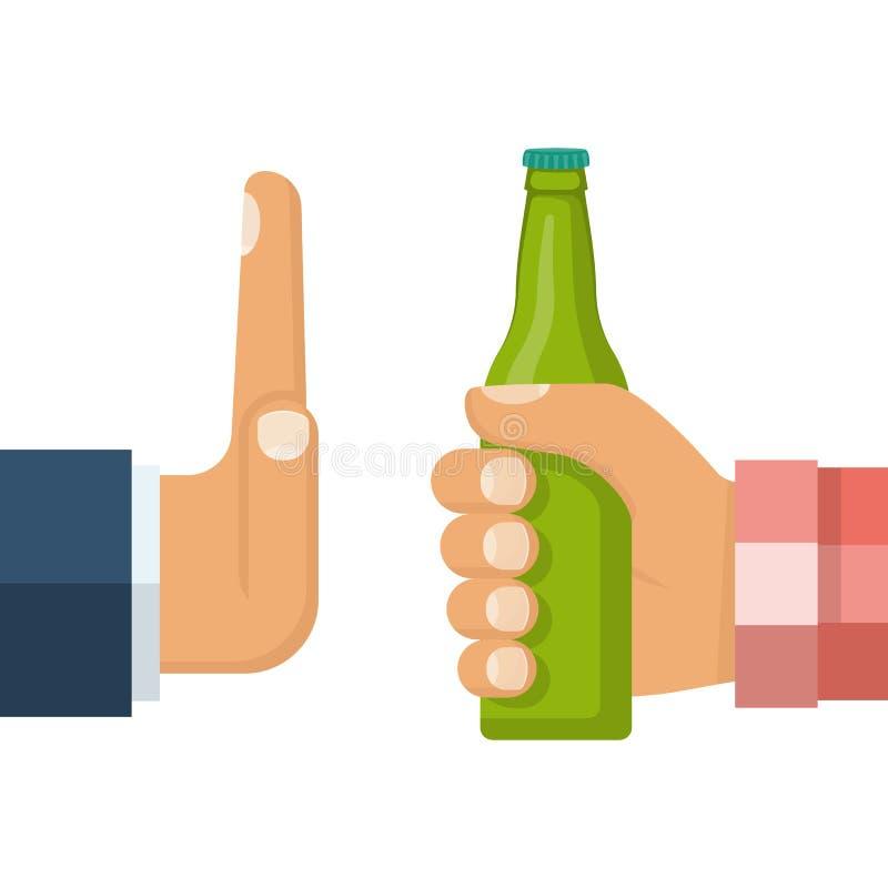 Żadny alkohol wektor royalty ilustracja