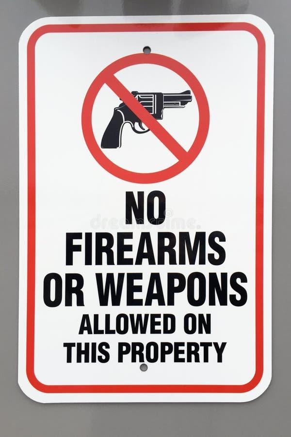 Żadny broni palnych lub broni znak ostrzegawczy zdjęcia royalty free