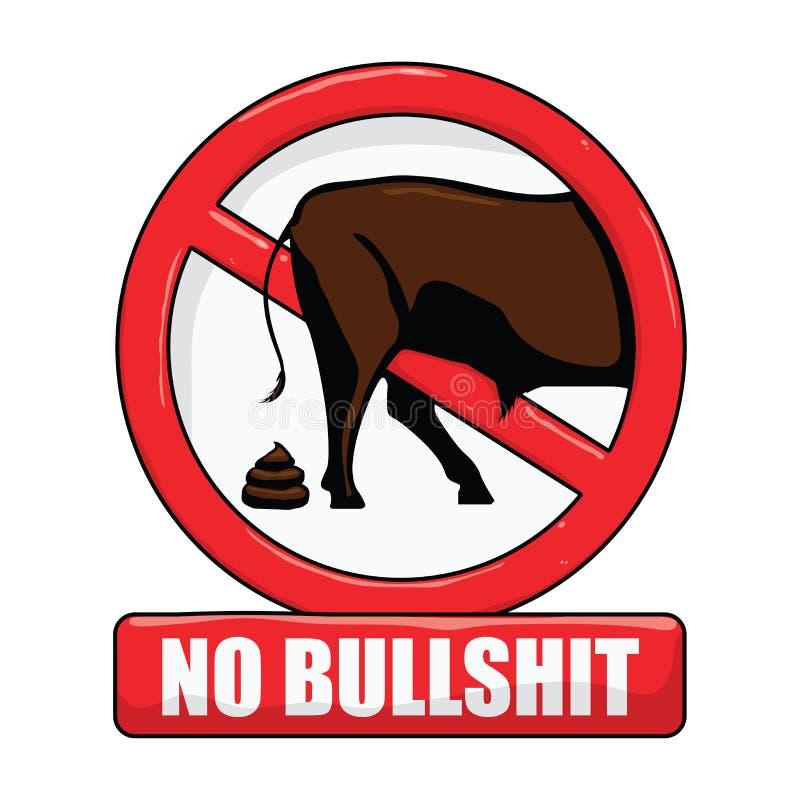 Żadny Bullshit znak royalty ilustracja